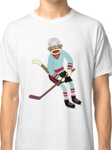 Sock Monkey Hockey Player Classic T-Shirt