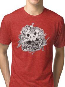 Rocking panda Tri-blend T-Shirt