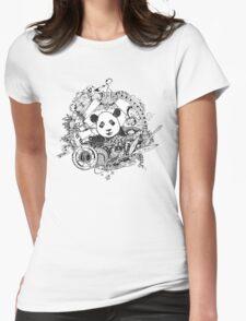 Rocking panda Womens Fitted T-Shirt