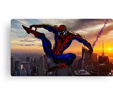 City Web Slinging Canvas Print