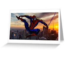 City Web Slinging Greeting Card