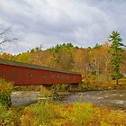 USA. Connecticut. West Cornwall Covered Bridge. by vadim19