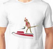 Sock Monkey Jetski Unisex T-Shirt