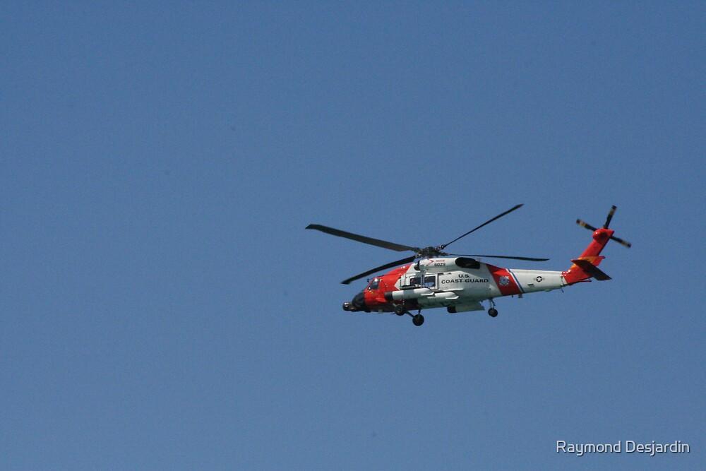 Coast Guard Helicopter by Raymond Desjardin