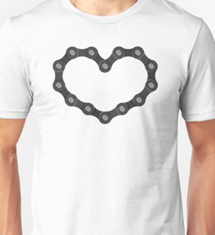 Bicycle Chain Heart - Cycling Love Vintage Art Unisex T-Shirt