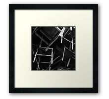 a flock of chairs Framed Print