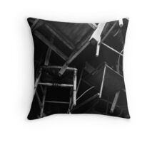 a flock of chairs Throw Pillow