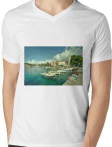 Cavtat Harbour  Mens V-Neck T-Shirt