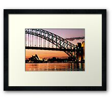 Sydney Dawn Framed Print