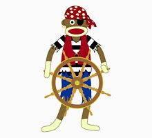 Sock Monkey Pirate Unisex T-Shirt