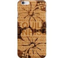 Summer Words Cocktails and Hawaiian Hibiscus iPhone Case/Skin