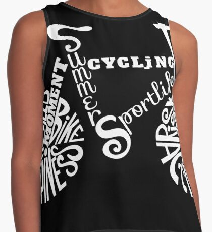 Cycling Typographic Art - Vintage Rider Contrast Tank
