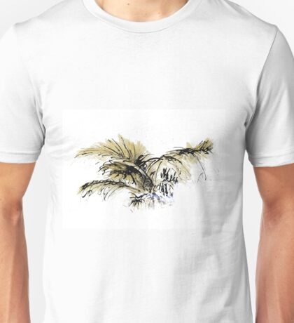 Ink and Watercolor Plants Unisex T-Shirt