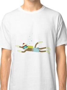 Sock Monkey Scuba Diver Classic T-Shirt