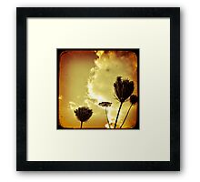 Aged Flowers Framed Print
