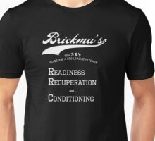 Brickma's Big League Pitcher Key 3 R's - Dark Unisex T-Shirt