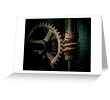 Rusted Gear Greeting Card