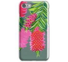 Australian Callistemon flower painting iPhone Case/Skin