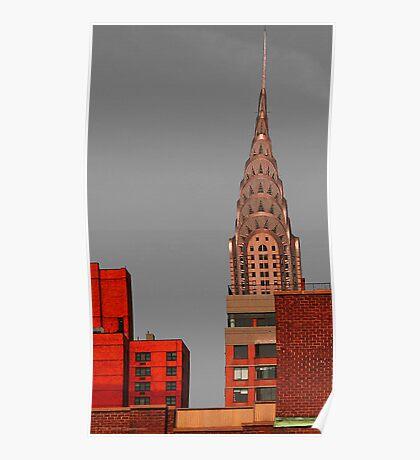 Evening Burn - Chrysler Building, New York City Poster