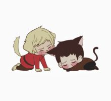 Puppy!Arthur and Kitten! Merlin One Piece - Long Sleeve