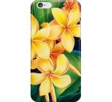 Tropical Paradise Hawaiian Plumeria Illustration iPhone Case/Skin