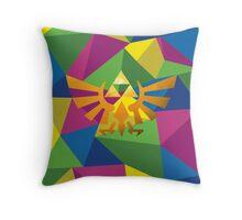 Legend of zelda polygon Throw Pillow