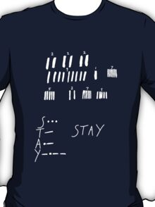 STAY - Interstellar - white T-Shirt