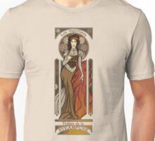 Steampunk Nouveau- Cream Unisex T-Shirt