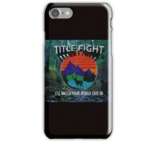"Title Fight ""Neck Deep"" Lyrics Pop Punk iPhone Case/Skin"