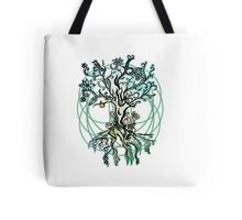 Coloured psychedelic tree Tote Bag