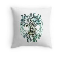 Coloured psychedelic tree Throw Pillow