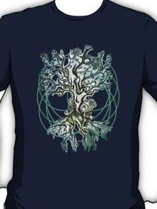 Coloured psychedelic tree T-Shirt