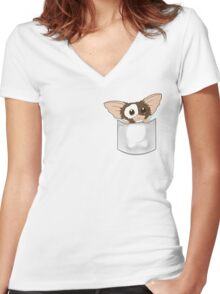 Pocket Gizmo  Women's Fitted V-Neck T-Shirt