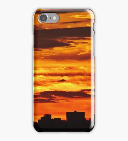 Painted sky over New York City  iPhone Case/Skin