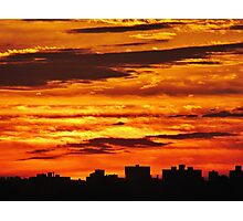 Painted sky over New York City  Photographic Print