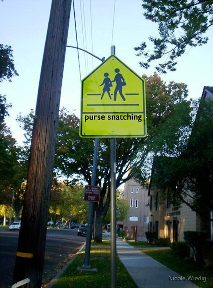 Purse Snatching Zone by Nicole Wiedig