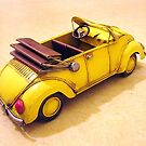 Yellow VW bug  by Valeria Lee