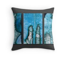 Leaf Blues Triptych Throw Pillow