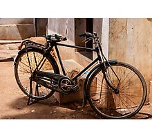 On old rusty bicycle Photographic Print