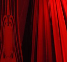 red curtain by Rae Stanton