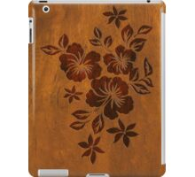 Lilikoi Hibiscus Faux Koa Wood Hawaiian Surfboard iPad Case/Skin