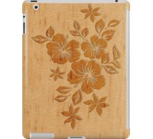 Lilikoi Hibiscus Faux Wood Hawaiian Surfboard iPad Case/Skin