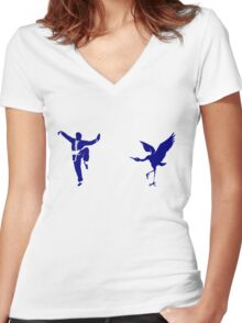 Crane Style Kung Fu Women's Fitted V-Neck T-Shirt