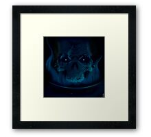 Black Flame Framed Print