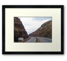 Highway Mountains Framed Print