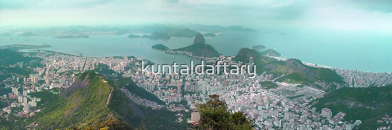 Sugar Loaf from Corcovado by kuntaldaftary