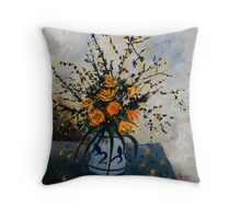 Dying forsithias Throw Pillow