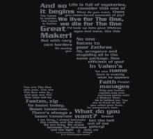 Babylon 5 Quotes - Grey by B5designs