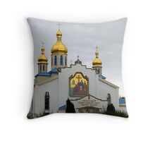 Golden crosses, senagouge Throw Pillow