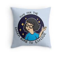 Time for the Charm Bomb to explode Throw Pillow